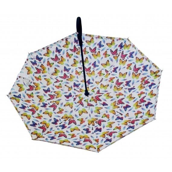 Parapluie inversé motifs papillons