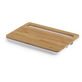 Organizer chargeur sans fil, sortie USB, 1000 mA, câble inclus bambou