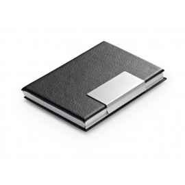 Porte cartes aluminium décor façon cuir