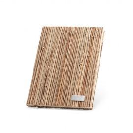 Carnet A5 couverture paille naturelle 150 x 210 mm