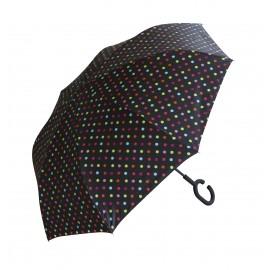 Parapluie inversé motif pois X3