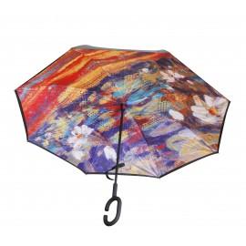 Parapluie inversé peinture nénuphar Monet