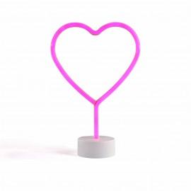 Lampe déco néon forme cœur