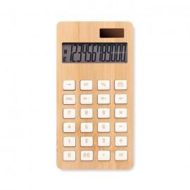 calculatrice 12 chiffres à double alimentation en ABS et Bambou