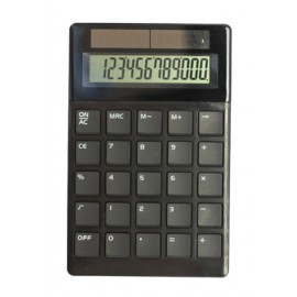 Calculatrice noire 12 chiffres, solaire