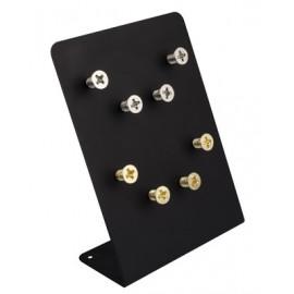 Assortiment de 4 magnets forme vis métallique dorée ou argent
