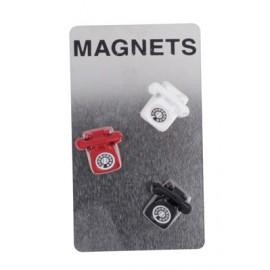 Set de 3 magnets téléphone, couleurs assorties