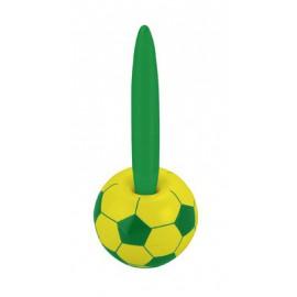 Stylo bille sur support magnetique thème football Vert & Jaune Brésil